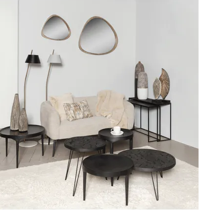 Side table black tall