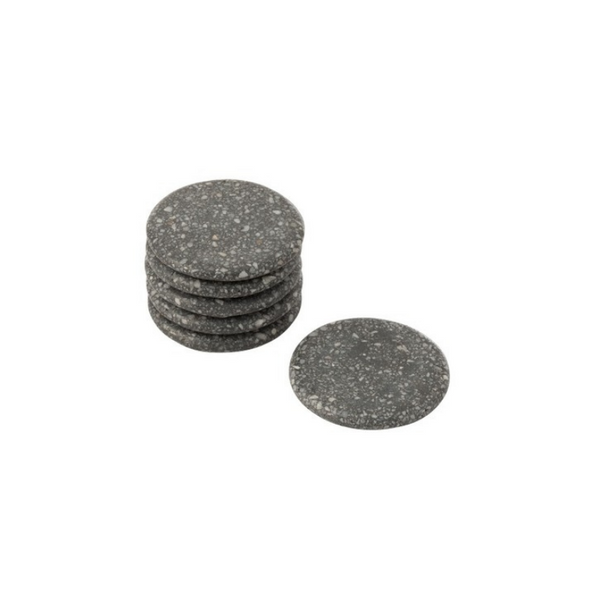 Marble coasters grey set of 6