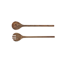 Load image into Gallery viewer, Salad server set acacia - Zetuké Home Decor