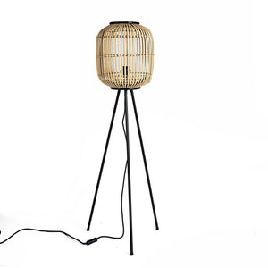 Rattan floor lamp - Zetuké Home Decor