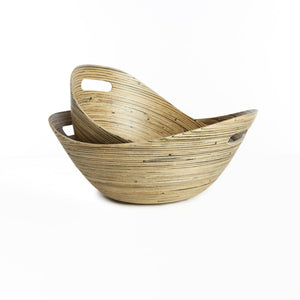Set of 2 bamboo bowls - Zetuké Home Decor