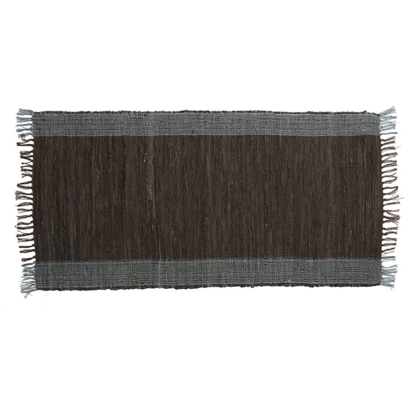 Handmade Chindi rug grey and brown - Zetuké Home Decor