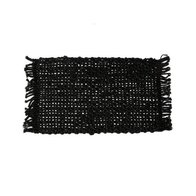 Jute doormat/placemat black