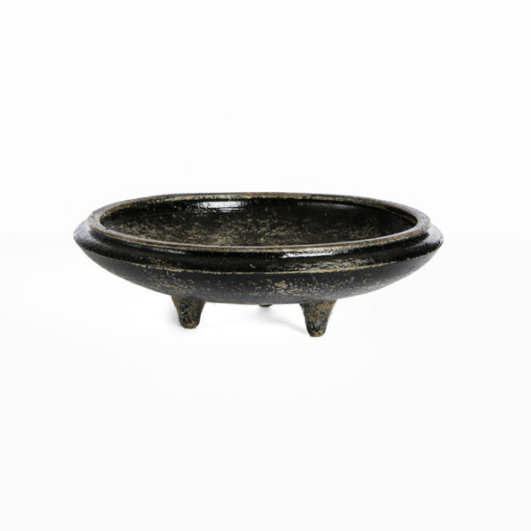 Black washed tray with legs - Zetuké Home Decor