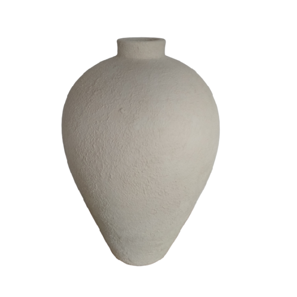 Medium beige statement vase - Zetuké Home Decor