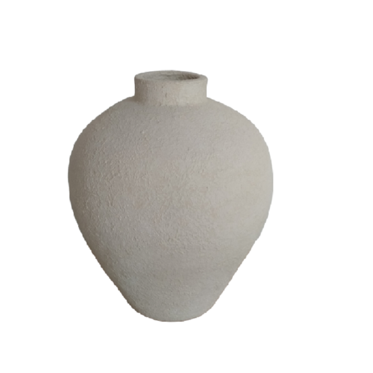 Small beige statement vase - Zetuké Home Decor