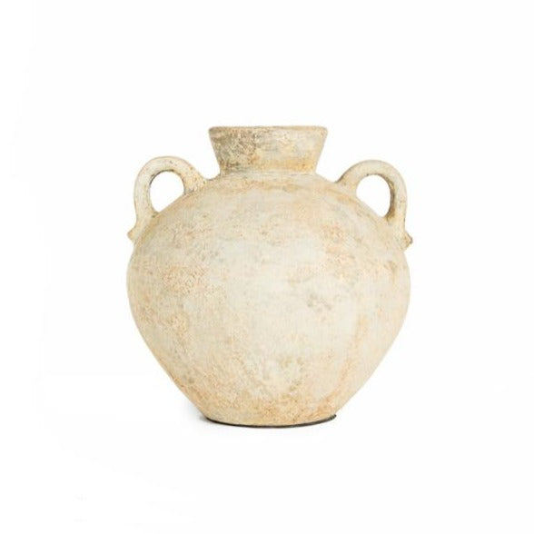 Ceramic vase beige with ears