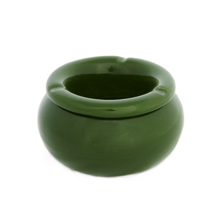 Green ceramic ashtray - Zetuké Home Decor