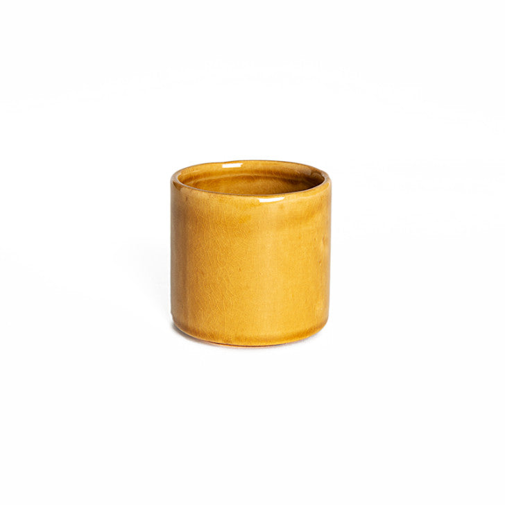 Yellow ceramic cups set of 4 - Zetuké Home Decor