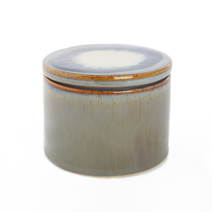Small grey ceramic jar with lid - Zetuké Home Decor