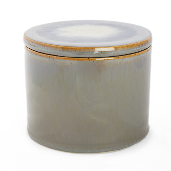 Ceramic jar with lid grey big - Zetuké Home Decor