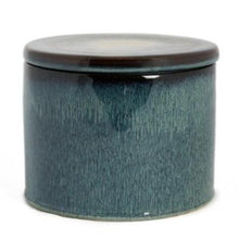 Load image into Gallery viewer, Big blue ceramic jar with lid - Zetuké Home Decor