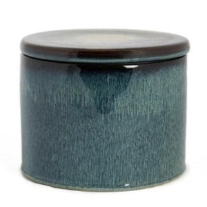 Big blue ceramic jar with lid - Zetuké Home Decor