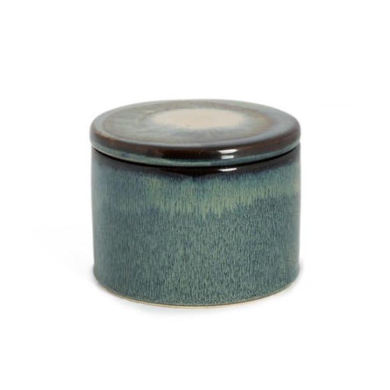 Ceramic jar with lid blue - Zetuké Home Decor