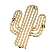 Load image into Gallery viewer, Gold cactus trivet - Zetuké Home Decor