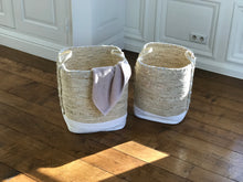 Load image into Gallery viewer, Seagrass laundry basket with handles - Zetuké Home Decor
