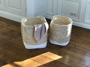 Seagrass laundry basket with handles - Zetuké Home Decor