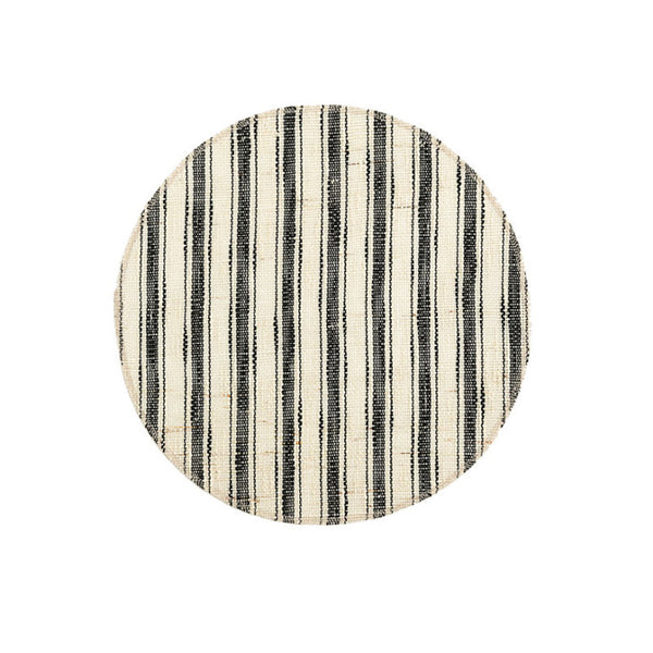 Line round placemat striped set of 6 - Zetuké Home Decor