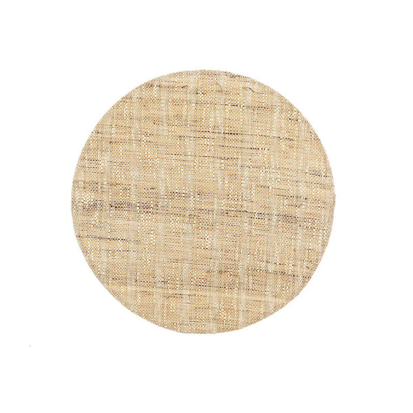 Line round placemat natural set of 6 - Zetuké Home Decor