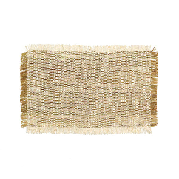Line placemat with fringes set of 6 - Zetuké Home Decor