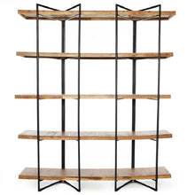 Load image into Gallery viewer, Wooden rack with steel construction - Zetuké Home Decor