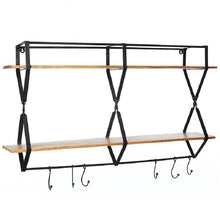Load image into Gallery viewer, Rack with hooks wood - Zetuké Home Decor