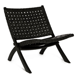 Leather chair black - Zetuké Home Decor