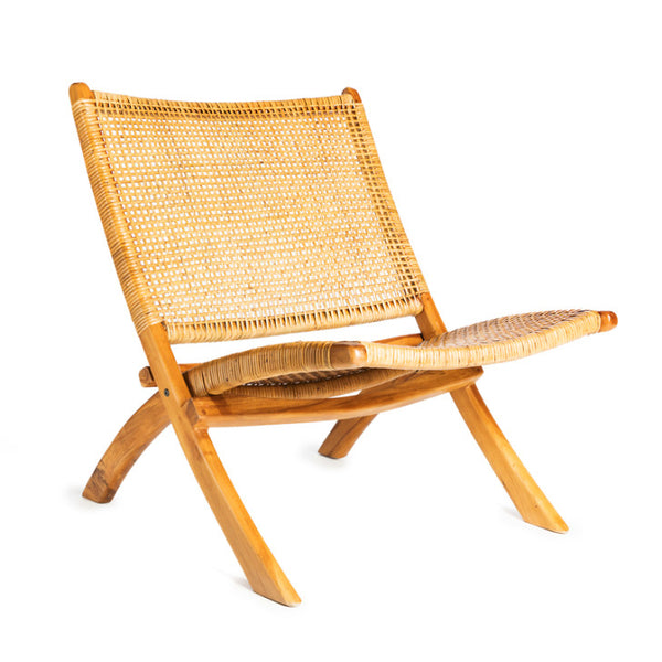 Chair wood and rattan - Zetuké Home Decor