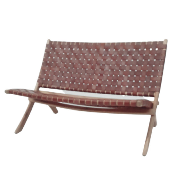 Leather 2 seater cognac - Zetuké Home Decor