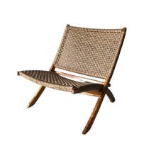 Load image into Gallery viewer, Teak chair woven seat outdoor foldable - Zetuké Home Decor