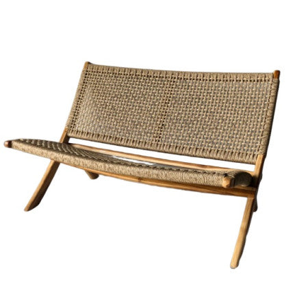 Teak 2 seater outdoor foldable - Zetuké Home Decor