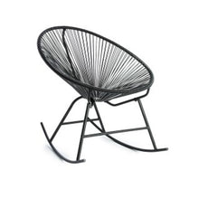 Load image into Gallery viewer, Rocking egg chair black - Zetuké Home Decor