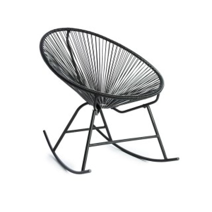 Rocking egg chair black - Zetuké Home Decor