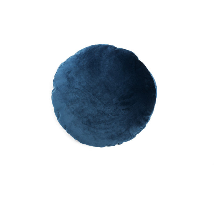 Round velvet pillow night blue - Zetuké Home Decor
