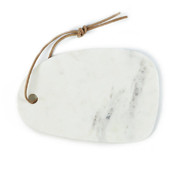 Small white, round marble cutting board - Zetuké Home Decor