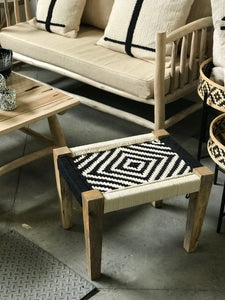 Stool black and white - Zetuké Home Decor