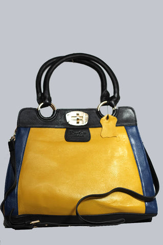 Blue-Black-Yellow Tote