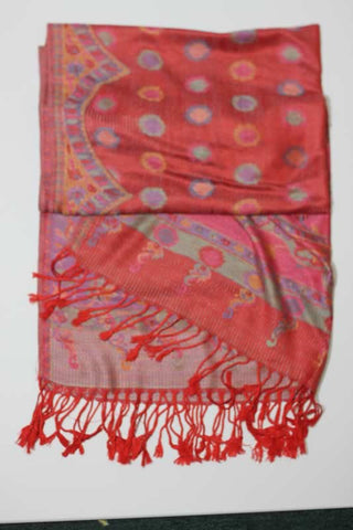 Scarf - Pastel Red Pattern