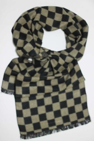 Scarves - Black-Grey Checkered