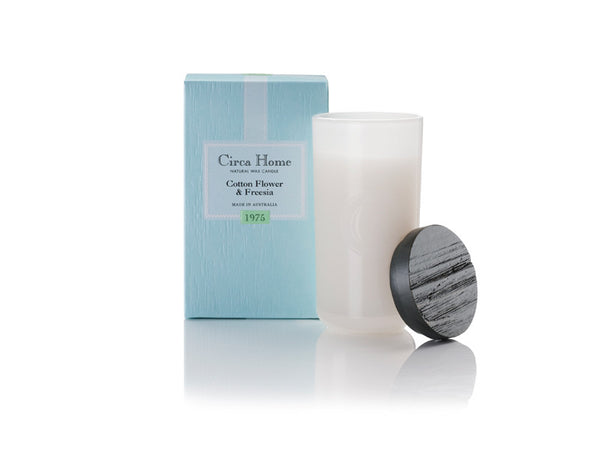 Circa Home natural home fragrance 1975 cotton flower freesia soy candles