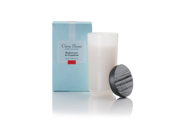 Circa Home natural room fragrance 1991 Redcurrant grapefruit soy candles