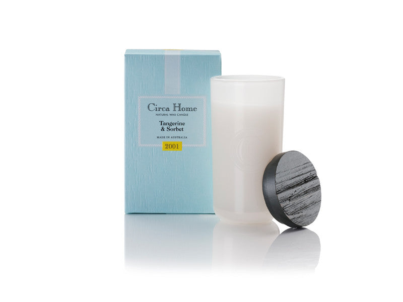 Circa Home natural room fragrance 2001 tangerine sorbet soy candles