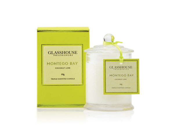 Glasshouse Fragrances Montego Bay coconut lime triple scented candle