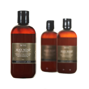Natural Liquid Body Soap From The Mountain MAN™ Collection (236 ml)