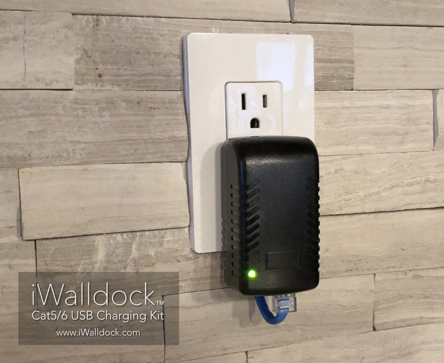 iWalldock™ Cat5/6 Power Supply In-Wall Tablet Mount Dock