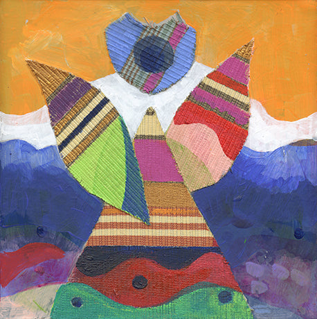 Angel Wearing Coat of Many Colors Note Cards