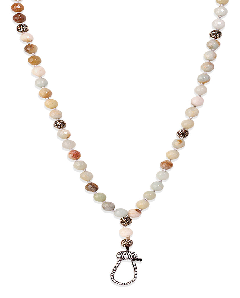 Keep Calm Brown Agate Necklace