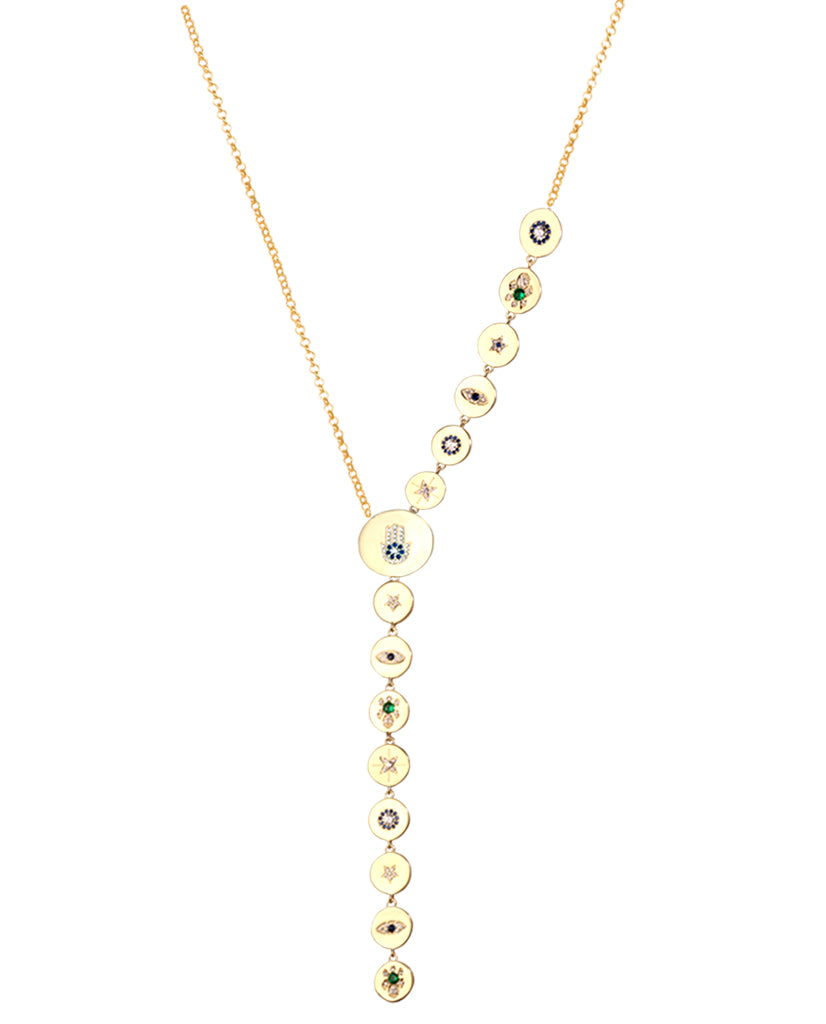 Charm Lariat Necklace