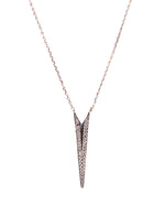 Dainty Dagger Black Necklace