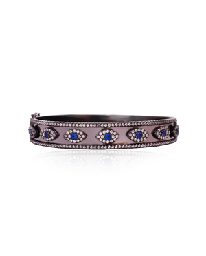 Blue Lapis Evil Eye Bangle